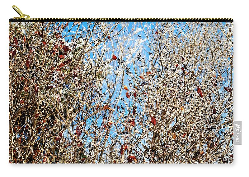 Winter Carry-all Pouch featuring the photograph Colorful Winter Wonderland by Frozen in Time Fine Art Photography