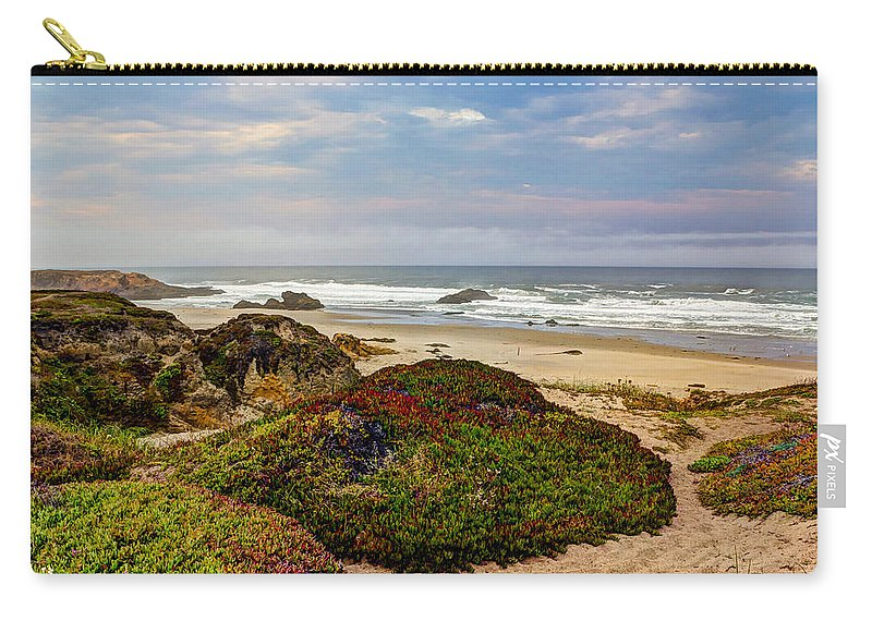 American Carry-all Pouch featuring the photograph Colors And Texures Of The California Coast by Heidi Smith