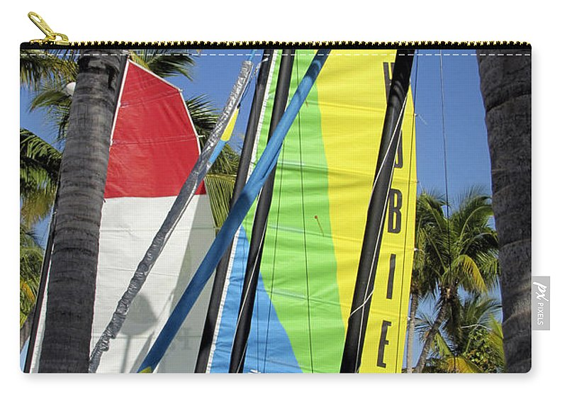 Beach Carry-all Pouch featuring the photograph Key West Sail Colors by Bob Slitzan