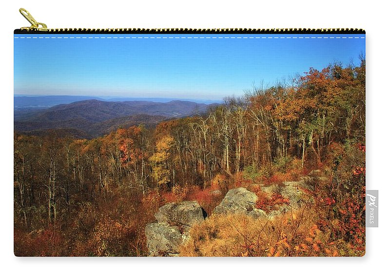 Colors Of Autumn In Shenandoah National Park Carry-all Pouch featuring the photograph Colors Of Autumn In Shenandoah National Park by Dan Sproul