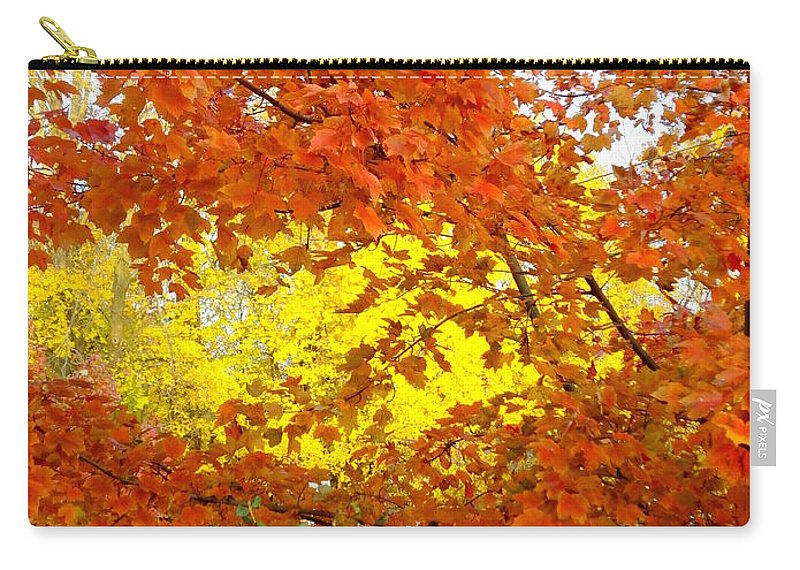 Trees Carry-all Pouch featuring the photograph Colors Of Fall 2 by Deborah Crew-Johnson