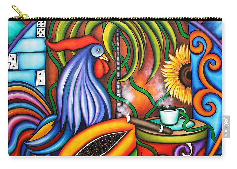 Cuba Carry-all Pouch featuring the painting Colors Of My World by Annie Maxwell