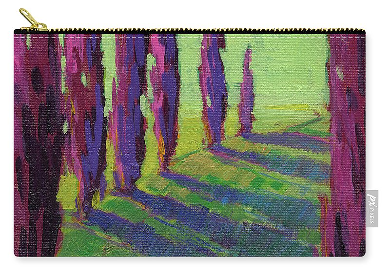 Konnie Kim Carry-all Pouch featuring the painting Colors Of Summer 1 by Konnie Kim