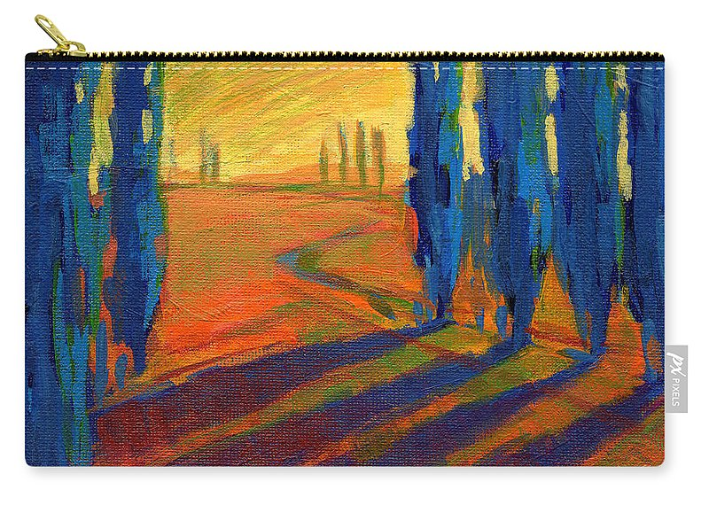 California Carry-all Pouch featuring the painting Colors Of Summer 2 by Konnie Kim