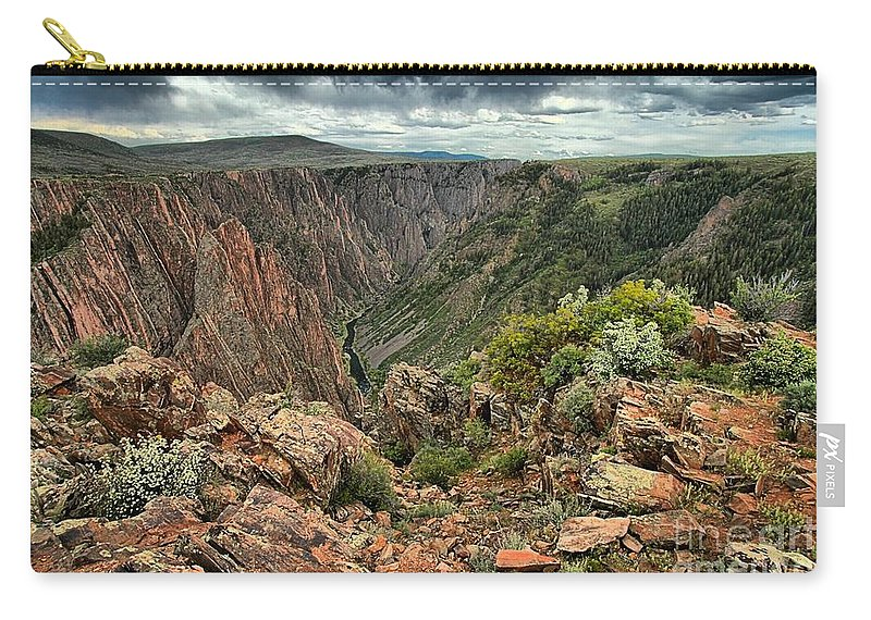 Black Canyon Carry-all Pouch featuring the photograph Colors Of The Black Canyon by Adam Jewell