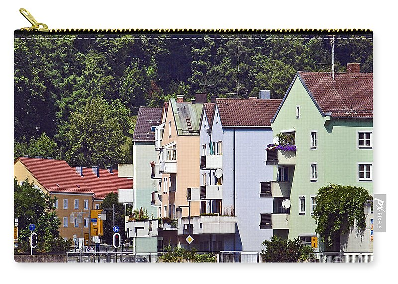 Bavaria Carry-all Pouch featuring the photograph Colorul Houses In Germany by Howard Stapleton