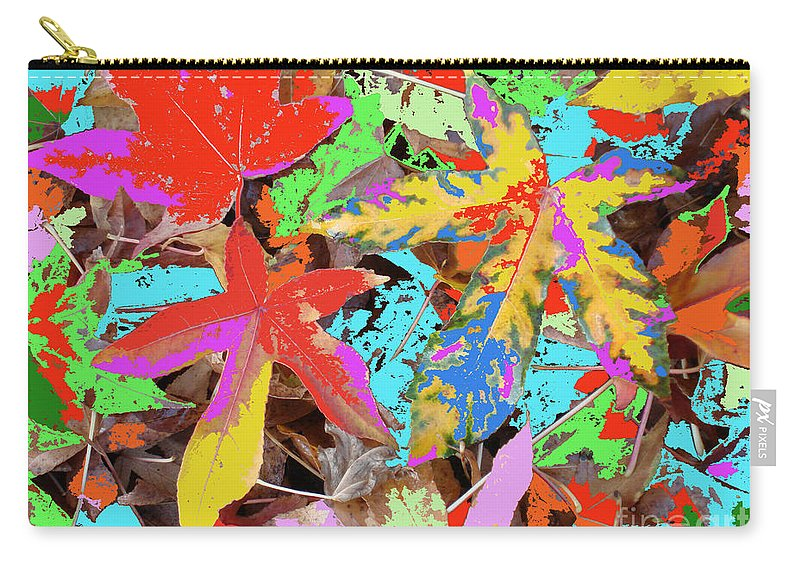Autumn Carry-all Pouch featuring the photograph Coloured Leaves By M.l.d. Moerings 2009 by Marion Moerings