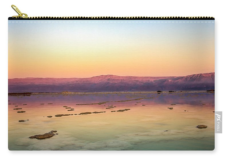 Surface Carry-all Pouch featuring the photograph Colourful Dead Sea by Mark Perelmuter