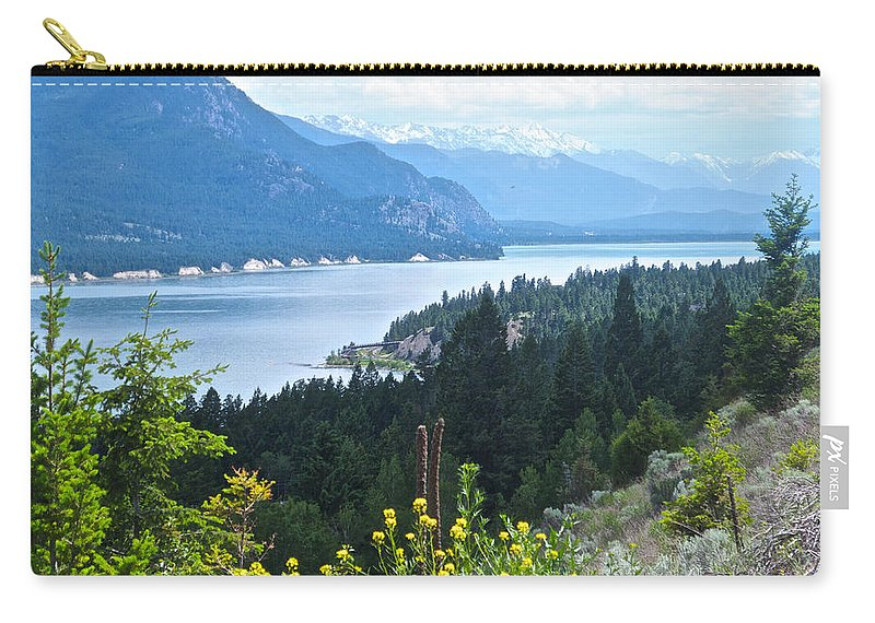 Columbia Lake Carry-all Pouch featuring the photograph Columbia Lake Which Is Source Of The Columbia River-bc by Ruth Hager