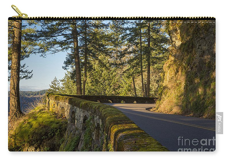 America Carry-all Pouch featuring the photograph Columbia River Gorge Highway by Brian Jannsen