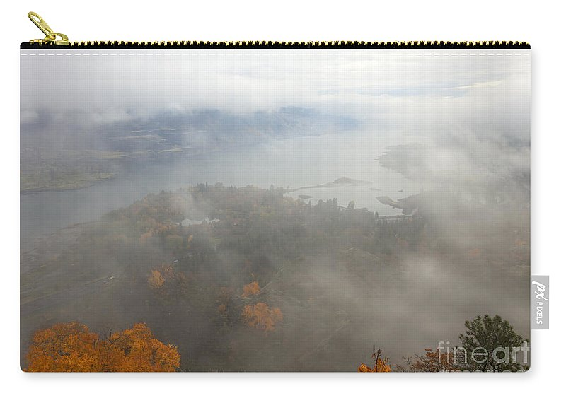 Columbia River Carry-all Pouch featuring the photograph Columbia River Hidden by Mike Dawson