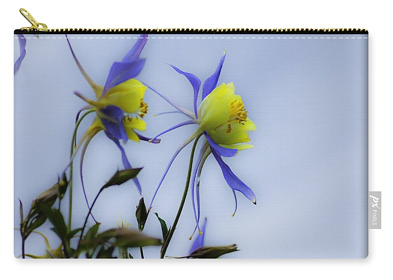 Columbine Flowers Carry-all Pouch featuring the photograph Columbines by Peter v Quenter