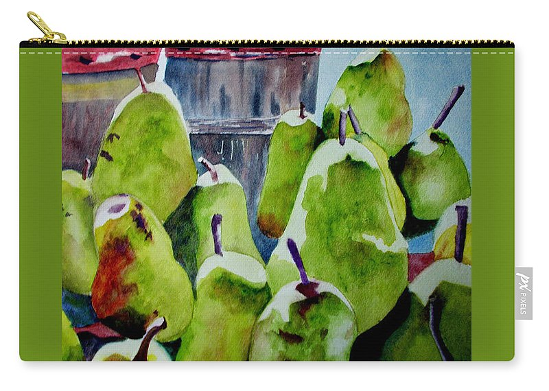 Pears Carry-all Pouch featuring the painting Columbus Pears by Nicole Curreri