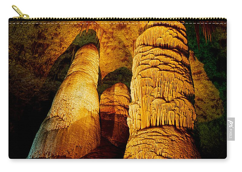 Carlsbad Caverns Carry-all Pouch featuring the photograph Dome And Column by Tracy Knauer