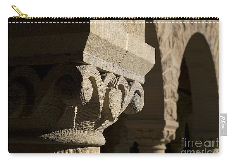 Column Carry-all Pouch featuring the photograph Column Detail Stanford California by Jason O Watson