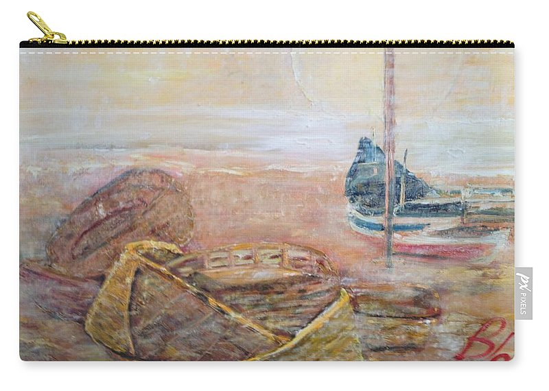 Beach Carry-all Pouch featuring the painting Colva by Peggy Blood
