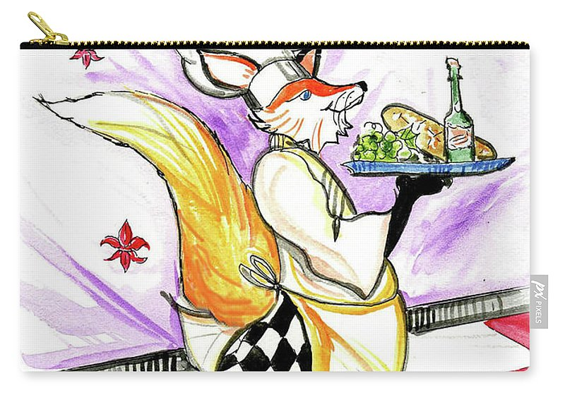 Chef Carry-all Pouch featuring the mixed media Come Eat by Lizi Beard-Ward