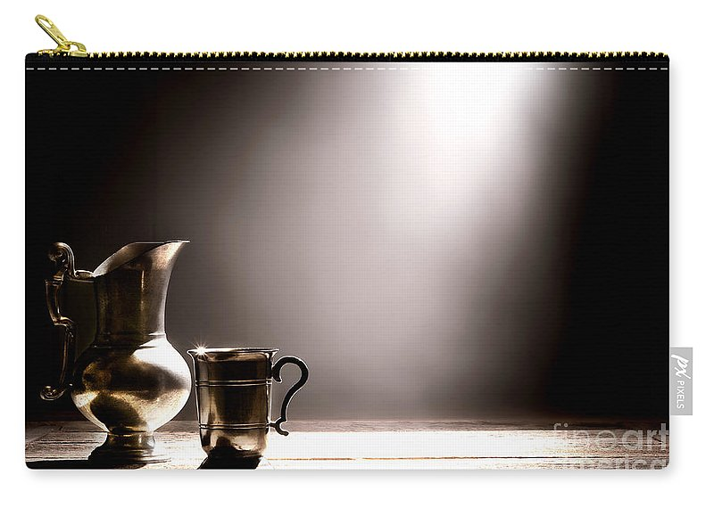 Pewter Carry-all Pouch featuring the photograph Come Let Us Drink About by Olivier Le Queinec