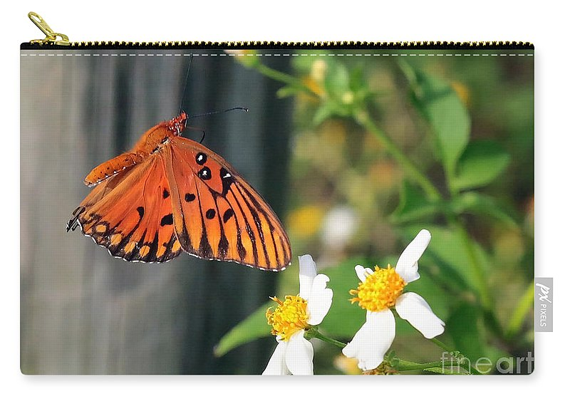 Butterfly Carry-all Pouch featuring the photograph Come To Me by Carol Groenen