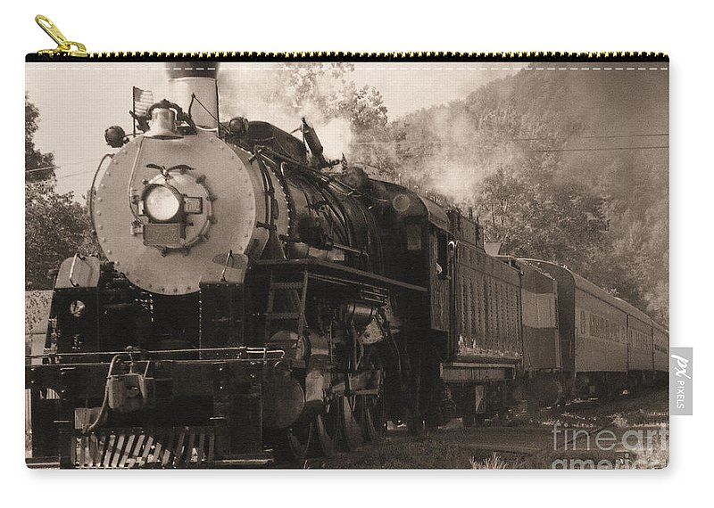 Trains Carry-all Pouch featuring the photograph Coming Around The Mountain by Richard Rizzo
