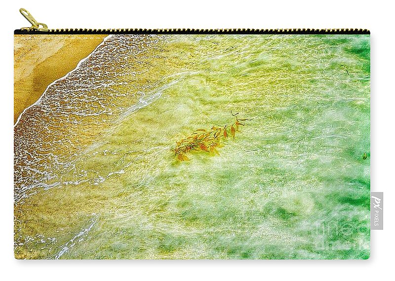 Waves Carry-all Pouch featuring the photograph Coming Ashore by Susan Garren