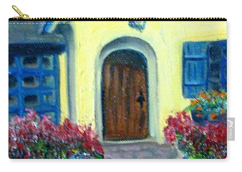 Cottage Carry-all Pouch featuring the painting Coming Home by Laurie Morgan