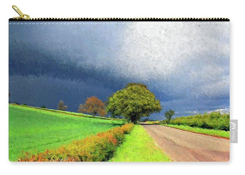 Storm Carry-all Pouch featuring the painting Coming This Way by Dominic Piperata