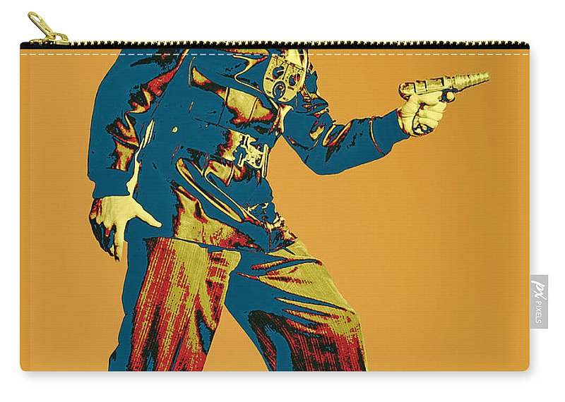 Pop Art Carry-all Pouch featuring the mixed media Commando Cody 1 by Dominic Piperata