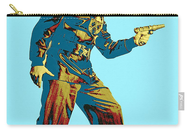 Pop Art Carry-all Pouch featuring the photograph Commando Cody 2 by Dominic Piperata
