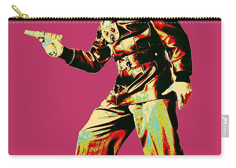 Pop Art Carry-all Pouch featuring the mixed media Commando Cody 4 by Dominic Piperata