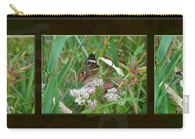 Butterfly Carry-all Pouch featuring the photograph Common Buckeye Butterfly - Junonia Coenia by Mother Nature