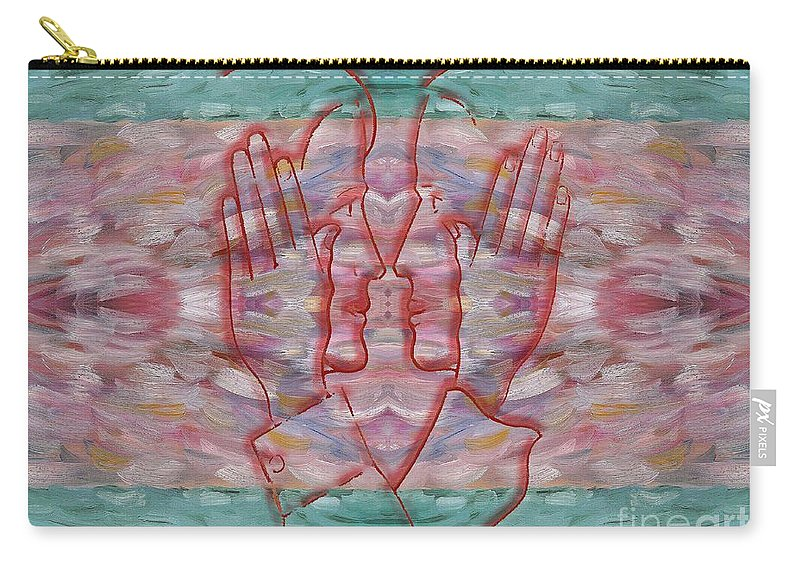 Prints Carry-all Pouch featuring the painting Communication Without Words by Patrick J Murphy