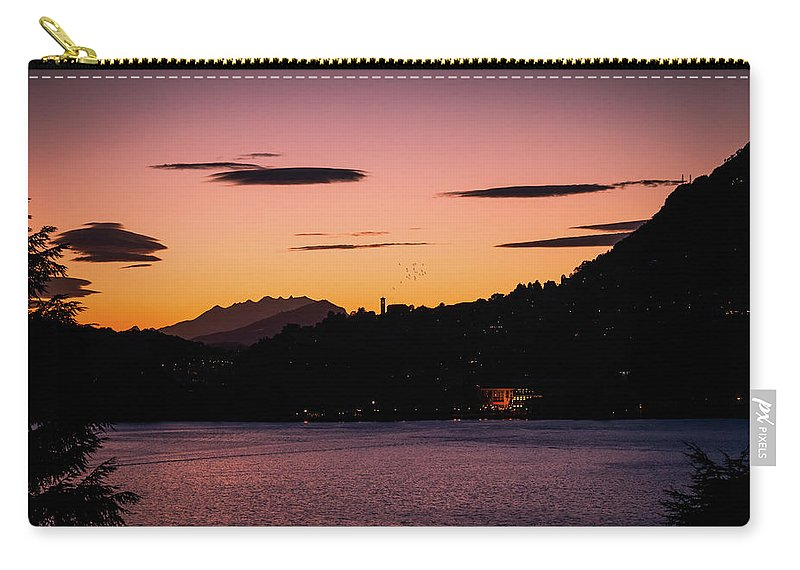 Town Carry-all Pouch featuring the photograph Como, Italian Lake Distric by Deimagine