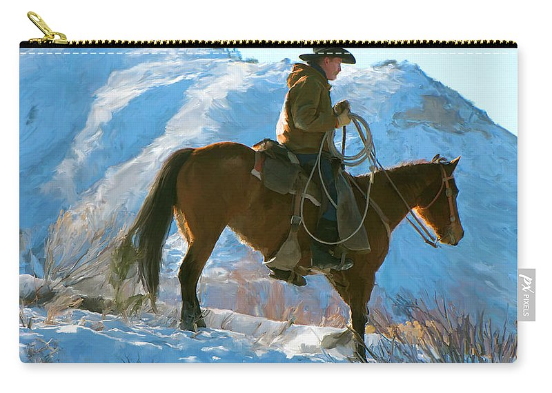 Man Carry-all Pouch featuring the painting Companions by Paul Tagliamonte
