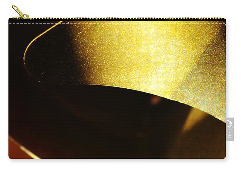 Abstract Carry-all Pouch featuring the photograph Composition In Gold by Tamara Michael