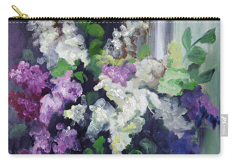 Art Carry-all Pouch featuring the digital art Composition Of Lilac by Balticboy