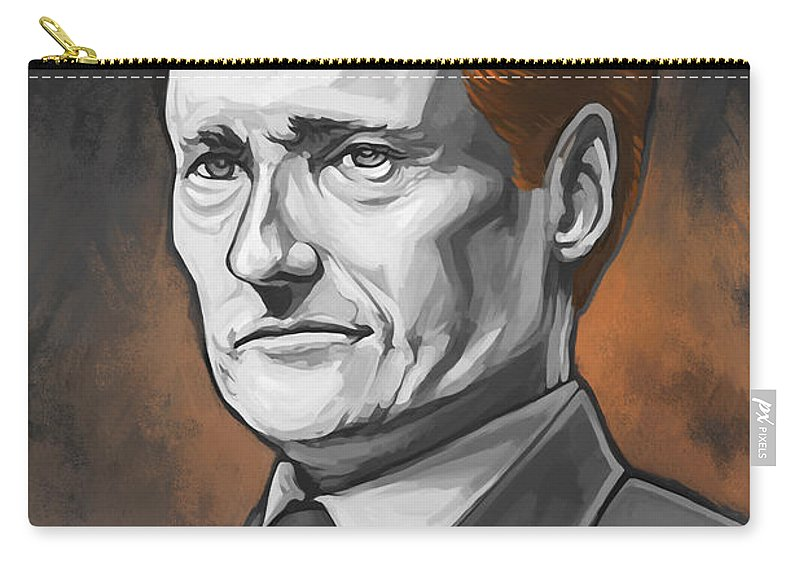 Conan O'brien Paintings Carry-all Pouch featuring the painting Conan O'Brien Artwork by Sheraz A
