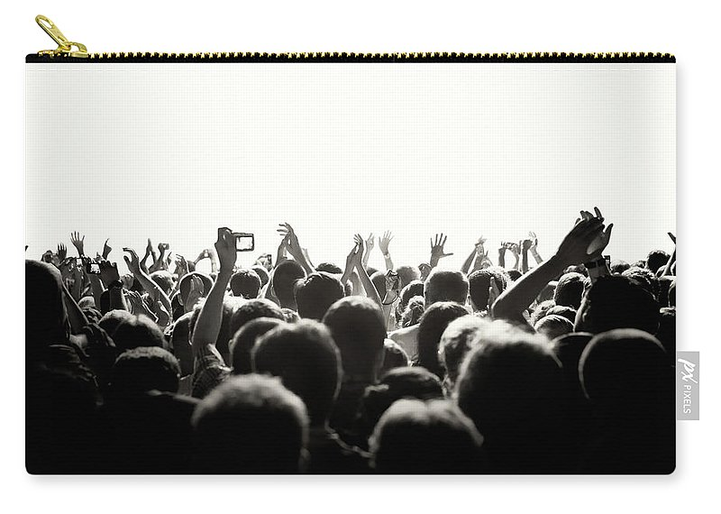 Rock Music Carry-all Pouch featuring the photograph Concert Crowd by Alenpopov