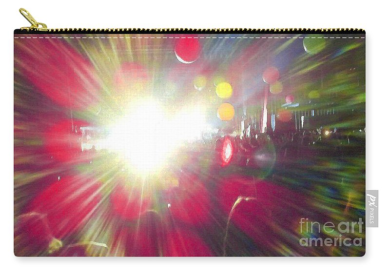 Music Carry-all Pouch featuring the photograph Concert Lights by Alys Caviness-Gober