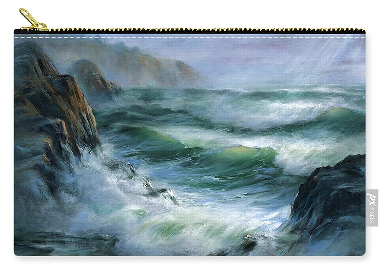 Transparent Wave Carry-all Pouch featuring the painting Concerto by Sharon Abbott-Furze