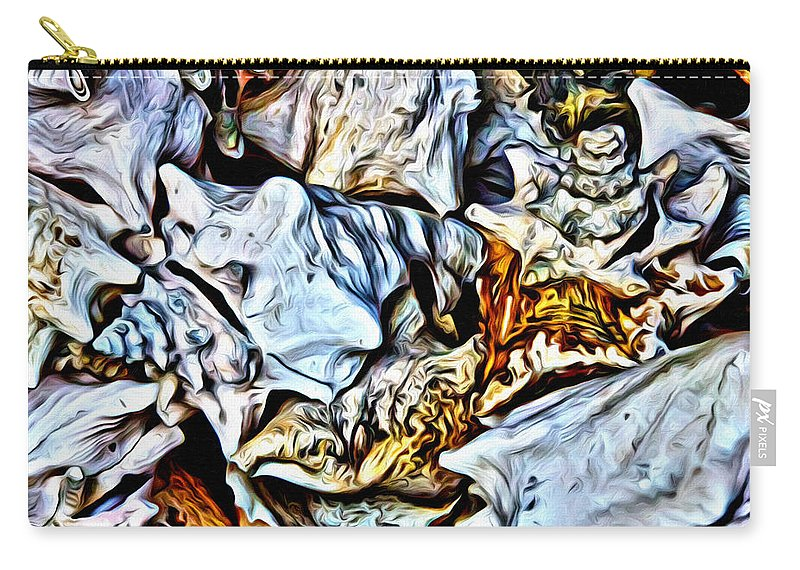 Shells Carry-all Pouch featuring the photograph Conch Shells From St John by Alice Gipson