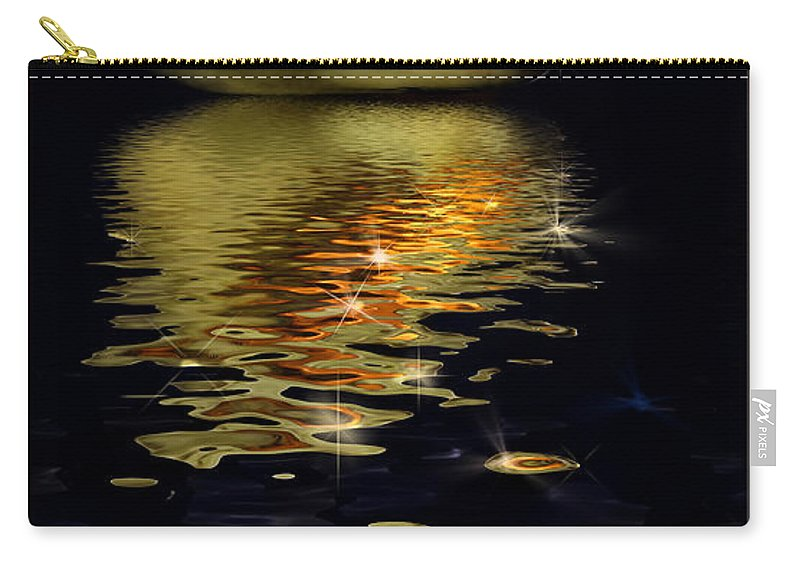 Conch Carry-all Pouch featuring the photograph Conch Sparkling With Reflection by Peter v Quenter
