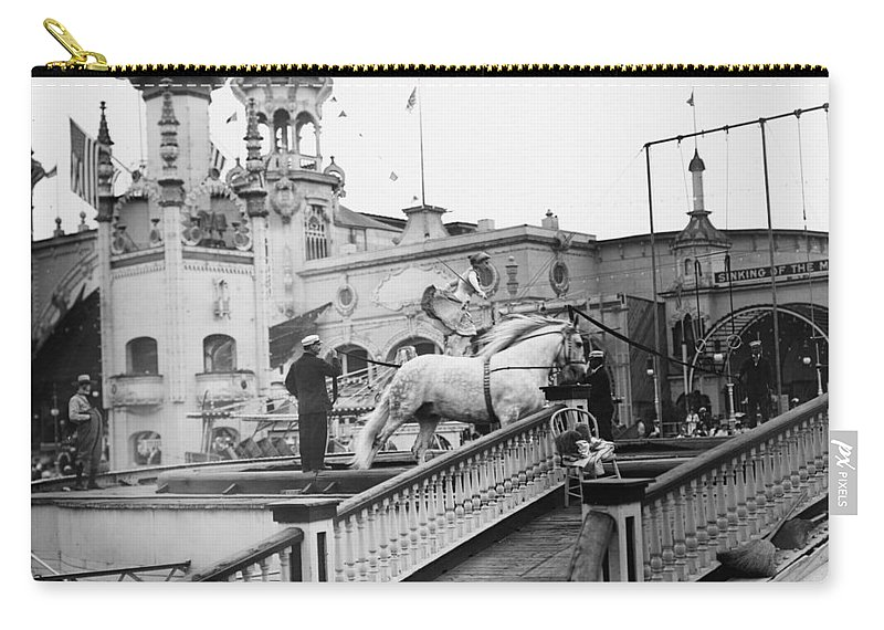 1910 Carry-all Pouch featuring the photograph Coney Island Circus, C1910 by Granger