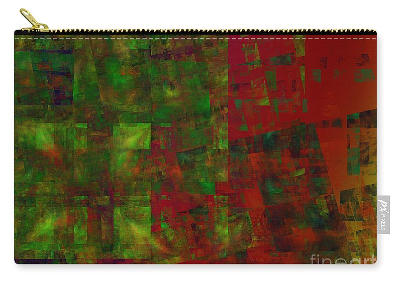 Abstract Carry-all Pouch featuring the digital art Confetti - Abstract - Fractal Art by Andee Design