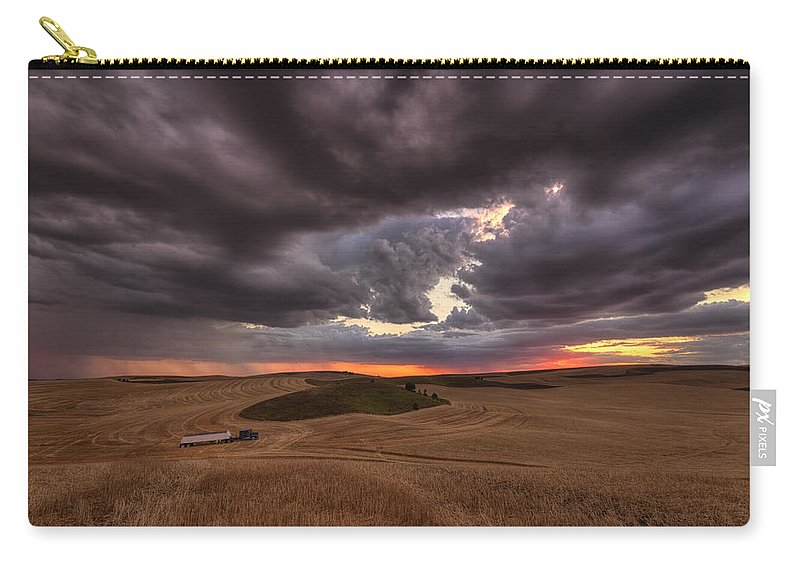 Mark Kiver Carry-all Pouch featuring the photograph Confliction by Mark Kiver