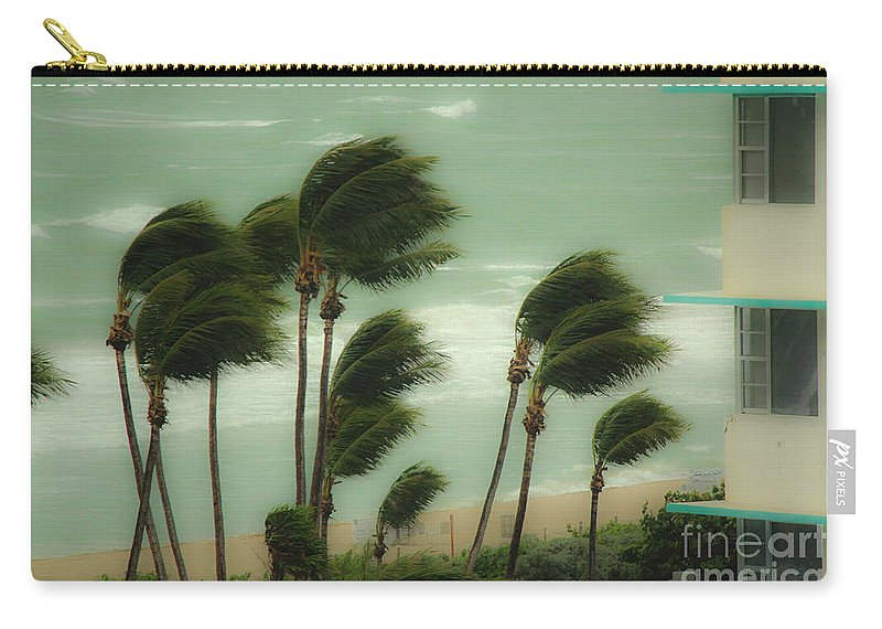 Wind Carry-all Pouch featuring the photograph Confronting The Winds by Rene Triay Photography