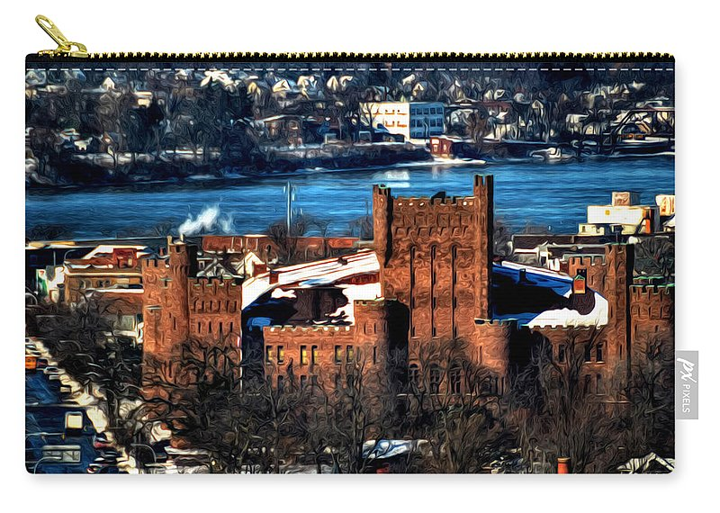 Winter Carry-all Pouch featuring the photograph Connecticut Street Armory Winter 2013 by Michael Frank Jr