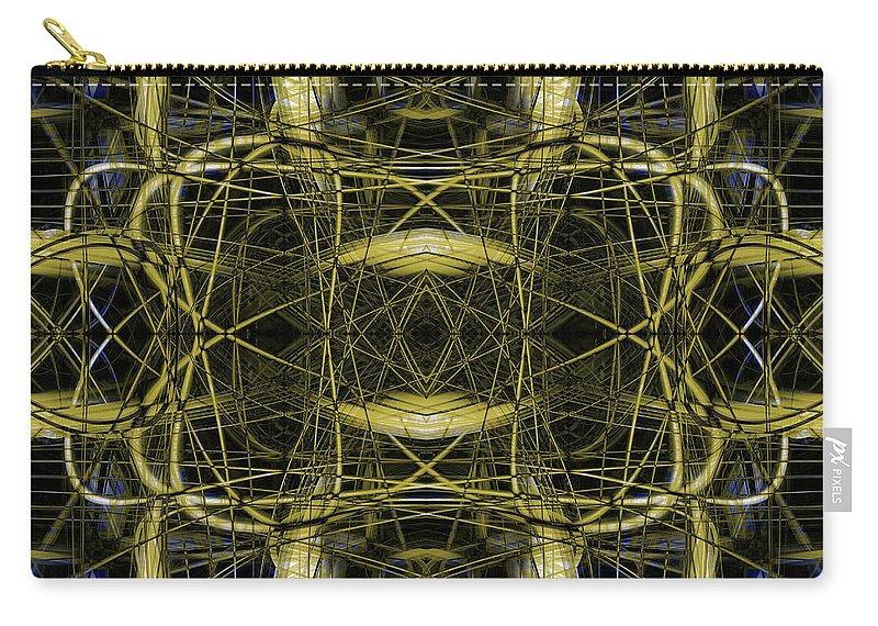 Abstract Carry-all Pouch featuring the digital art Connections 4 by Steve Ball