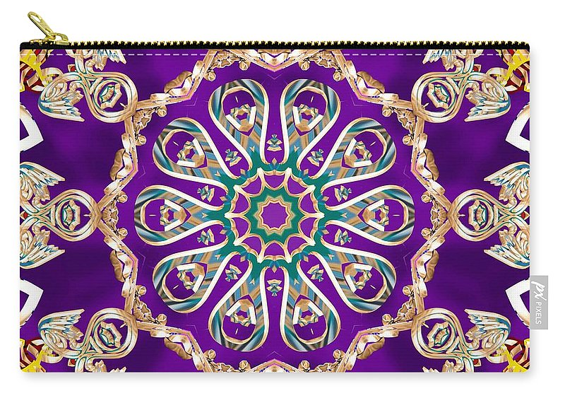 Sacredlife Mandalas Carry-all Pouch featuring the digital art Conscious Carousel by Derek Gedney