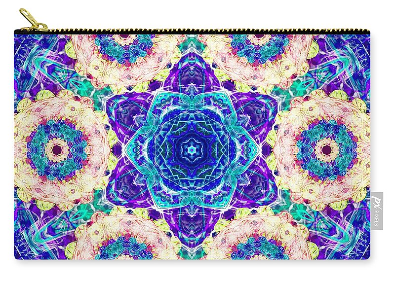 Sacredlife Mandalas Carry-all Pouch featuring the digital art Conscious Explosion by Derek Gedney